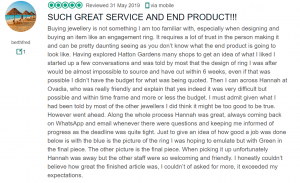 Great Customer review - Ovadia Jewellery