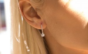 Diamond Earrings - diamond jewellery trends 2019